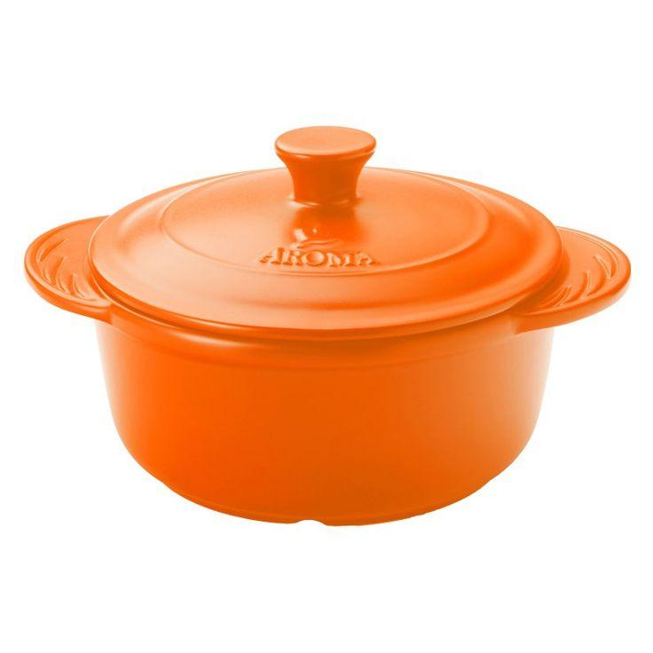 Aroma Doveware Ceramic Dutch Oven Orange - ADC-104OR