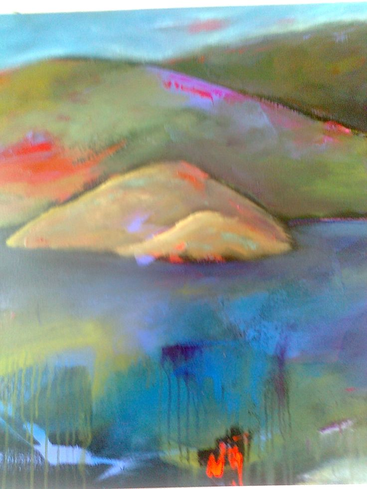 section of a landscape painting - SOLD