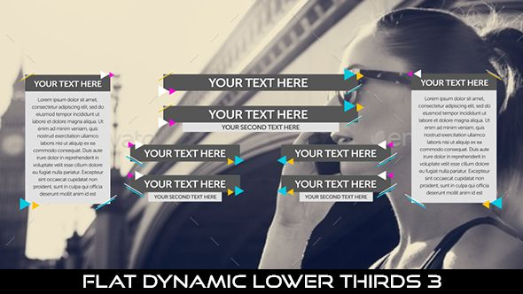 Flat Dynamic Lower Thirds 3  8 Lowerthirds | Full HD 1920×1080 | Quicktime PNG alpha codec | Each 10 seconds.  #envato #videohive #motiongraphic #aftereffects #lowerthird #broadcast #caption #color #corporate #elegant #flat #modern #presentation #professional #simple #television #text #title #youtube