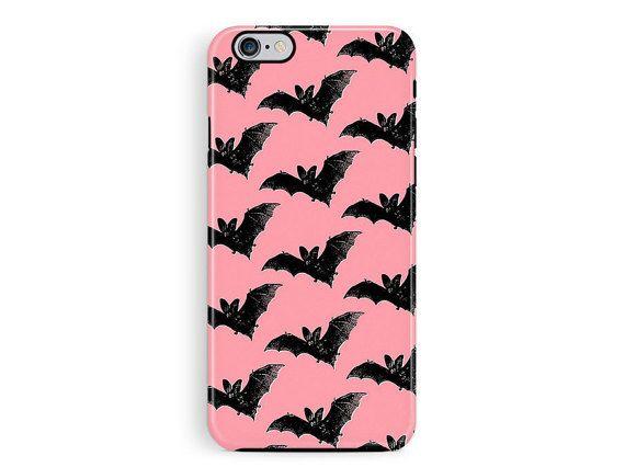 Bumper iPhone 5 Case, Protective iPhone Case, Bat iPhone 6 case, Goth iphone case, Vampire Phone case, Halloween Phone case, Pastel Goth