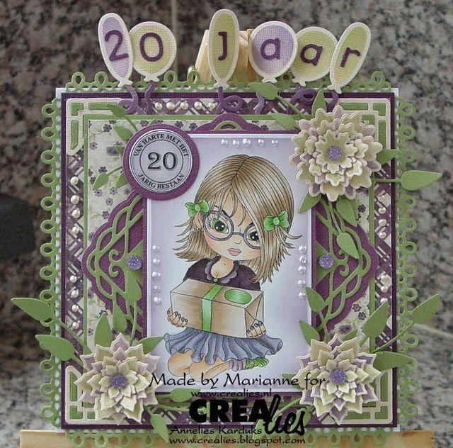 Van harte met het 20 jarig jubileum (Cards created by Marianne)