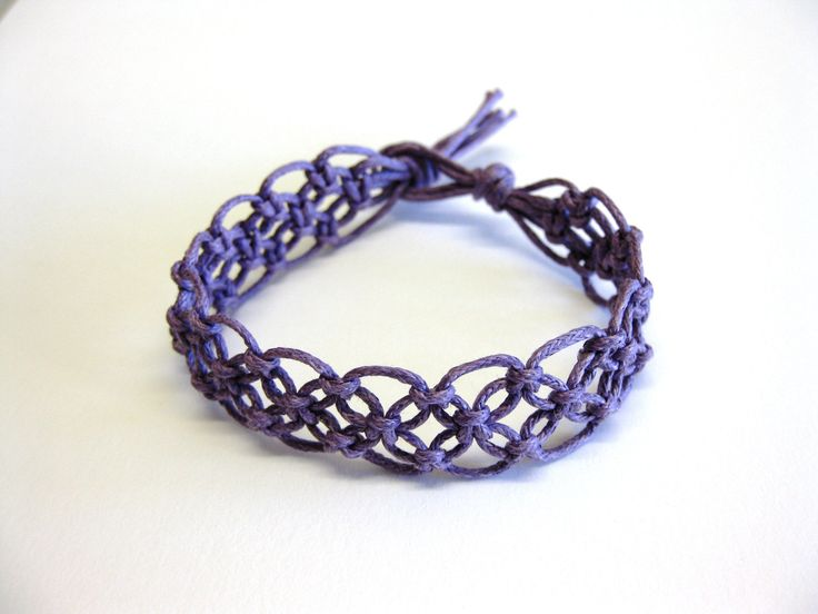 Lacy macrame bracelet pattern tutorial pdf purple step by ...