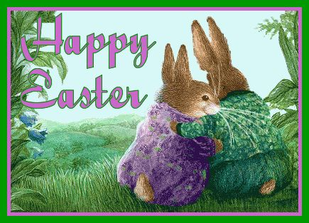 happy Easter christian gif | happy easter funny bunnies