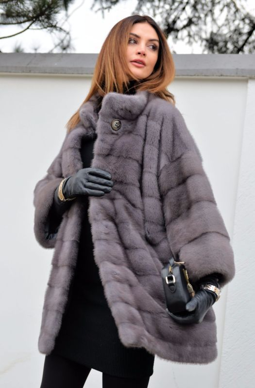 NEW 2017 GRAPHITE ROYAL SAGA MINK FUR COAT CLASS OF JACKET CHINCHILLA SABLE FOX
