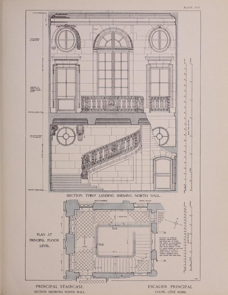 The staircase of the Petit Trianon, reproduced in The Year book of the Boston Architectural Club