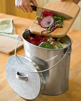 Galvanized Compost Pail $16.95