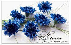 CORNFLOWER TUTORIAL: MK cornflowers - ASTORIA - ya.ru