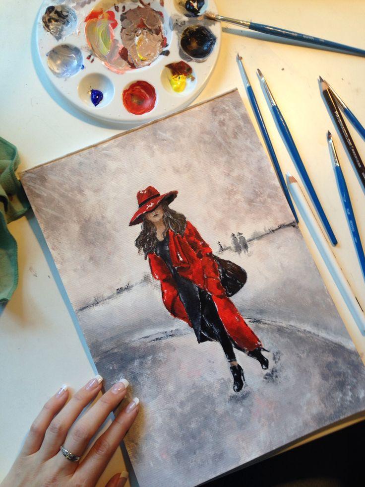 Acrylic on canvas pad   Paige Mackay Art   2015