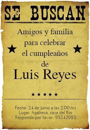 Fiesta De Cumpleaños Vaquero - Free Printable Invitation Template | Greetings Island