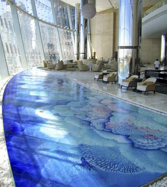 Beautiful Tile Mosaic Indoor Swimming Pool In Abu Dabi