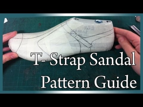 How to make shoes: Main Basic pattern for T-strap sandal PART-1