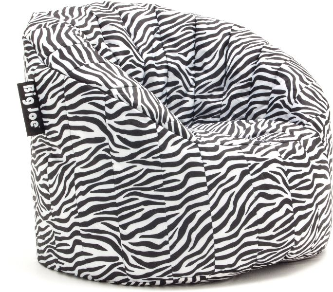 Big Joe Zebra Bean Bag Chair