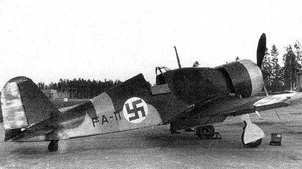 Fiat G.50 in Finnish markings