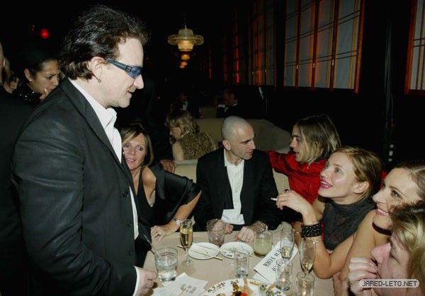 JARED LETO and CAMERON DIAZ   (with  Bono and Daniel Day Lewis)
