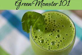 Piña Colada Green Monster Smoothie {Recipe}