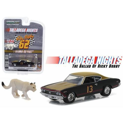 Chevrolet Chevelle with Cougar Figure Talladega Nights: The Ballad of Ricky Bobby (2006) 1/64 Diecast Model Car by Greenlight