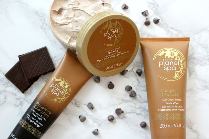 Avon Planet Spa Pampering Chocolate Bundle The Avon Planet Spa Pampering Chocolate collection is made for gifting, be it a gift to someo... Avon Rep Tip: Attention all chocolate lovers out there! Check out what Beauty Blogger Samantha Jane had to say about our new Planet Spa Pampering Chocolate collection... http://www.samanthajaneyt.com/2016/10/avon-planet-spa-pampering-chocolate.html
