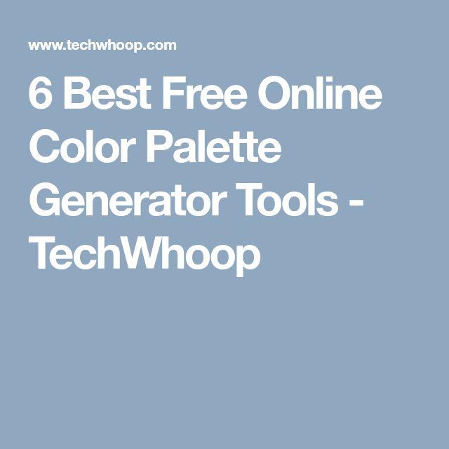 6 Best Free Online Color Palette Generator Tools - TechWhoop