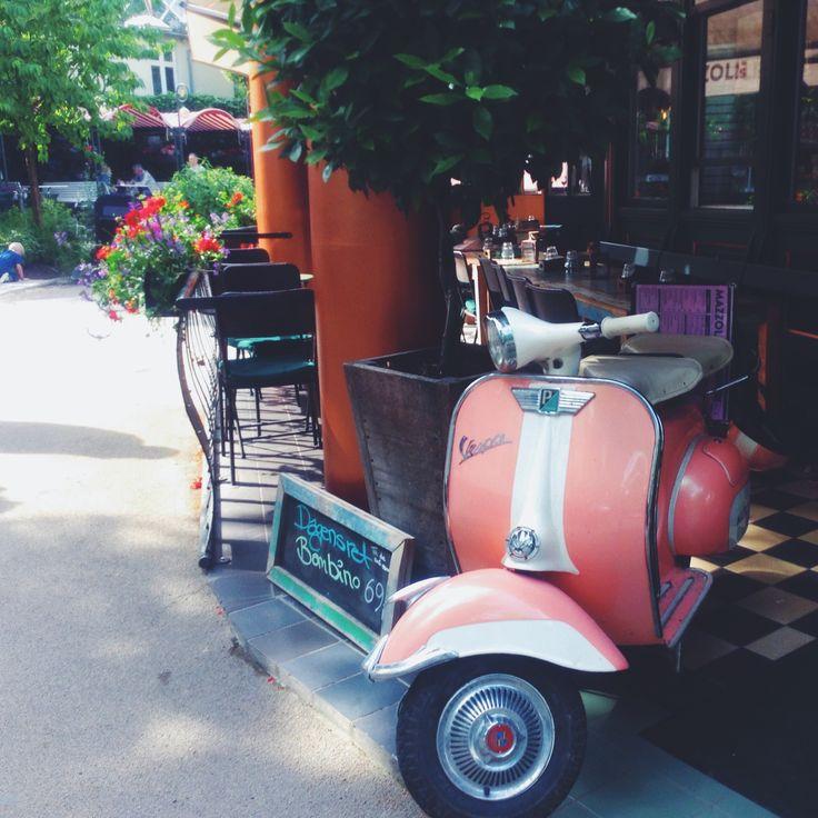 sweet cafe in Tivoli, Copenhagen, Denmark
