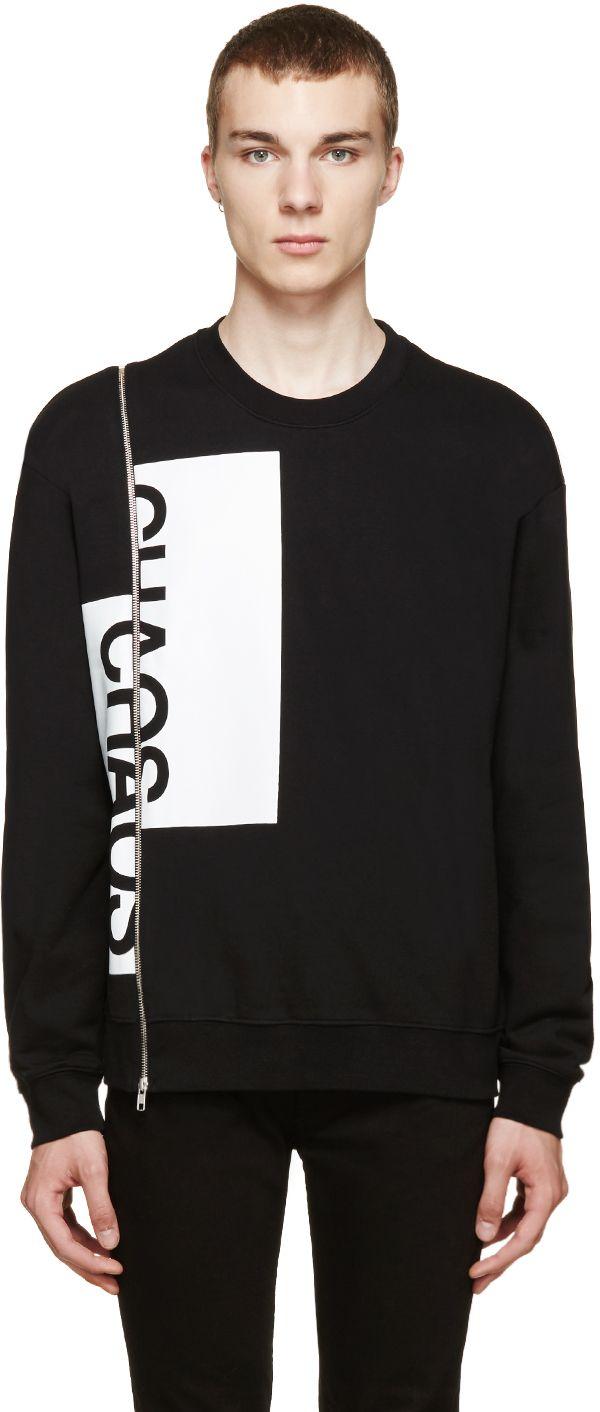Mcq Alexander Mcqueen: Black Chaos Zip Sweater