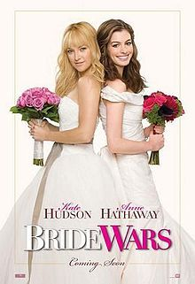 Bride Wars is a 2009 American romantic comedy film directed by Gary Winick and written by Greg DePaul, June Diane Raphael and Casey Wilson.[2]  The film stars Kate Hudson, Anne Hathaway, Candice Bergen, Bryan Greenberg, Chris Pratt, Steve Howey and Kristen Johnston. Emma Allen (Anne Hathaway) and Olivia 'Liv' Lerner (Kate Hudson) are best friends who have planned every detail of their weddings, since first witnessing a wedding 20 years ago at the Plaza Hotel.