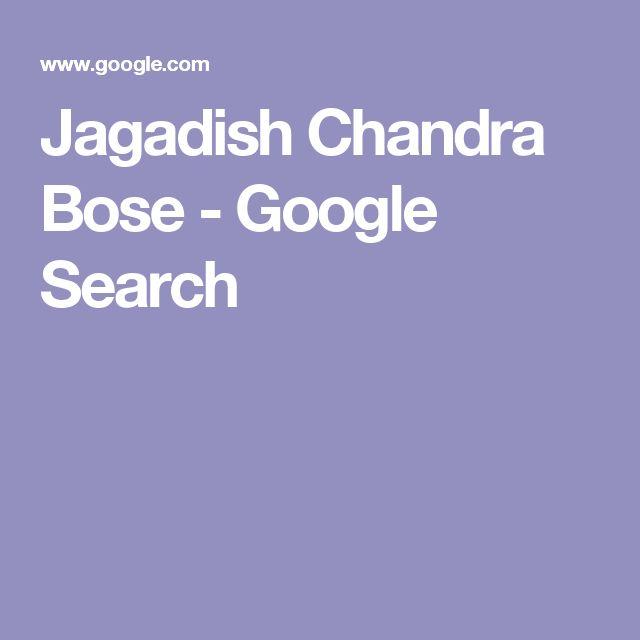 Jagadish Chandra Bose - Google Search