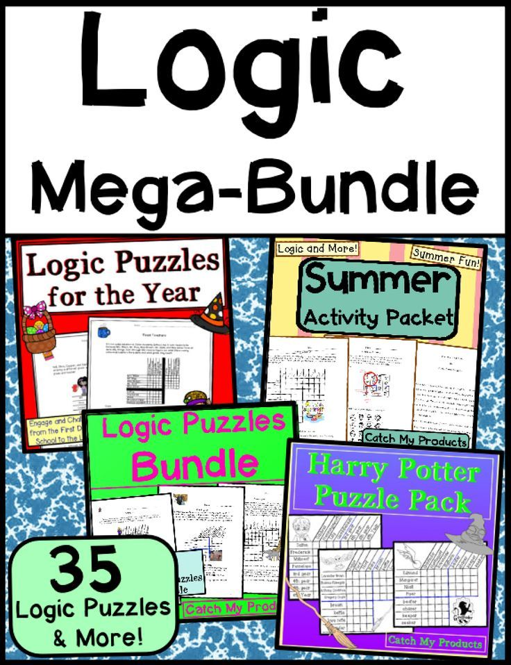 Brain Teasers Logic Puzzles Mega Bundle TeachersPayTeachers