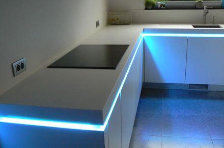 Detalle iluminación cocina