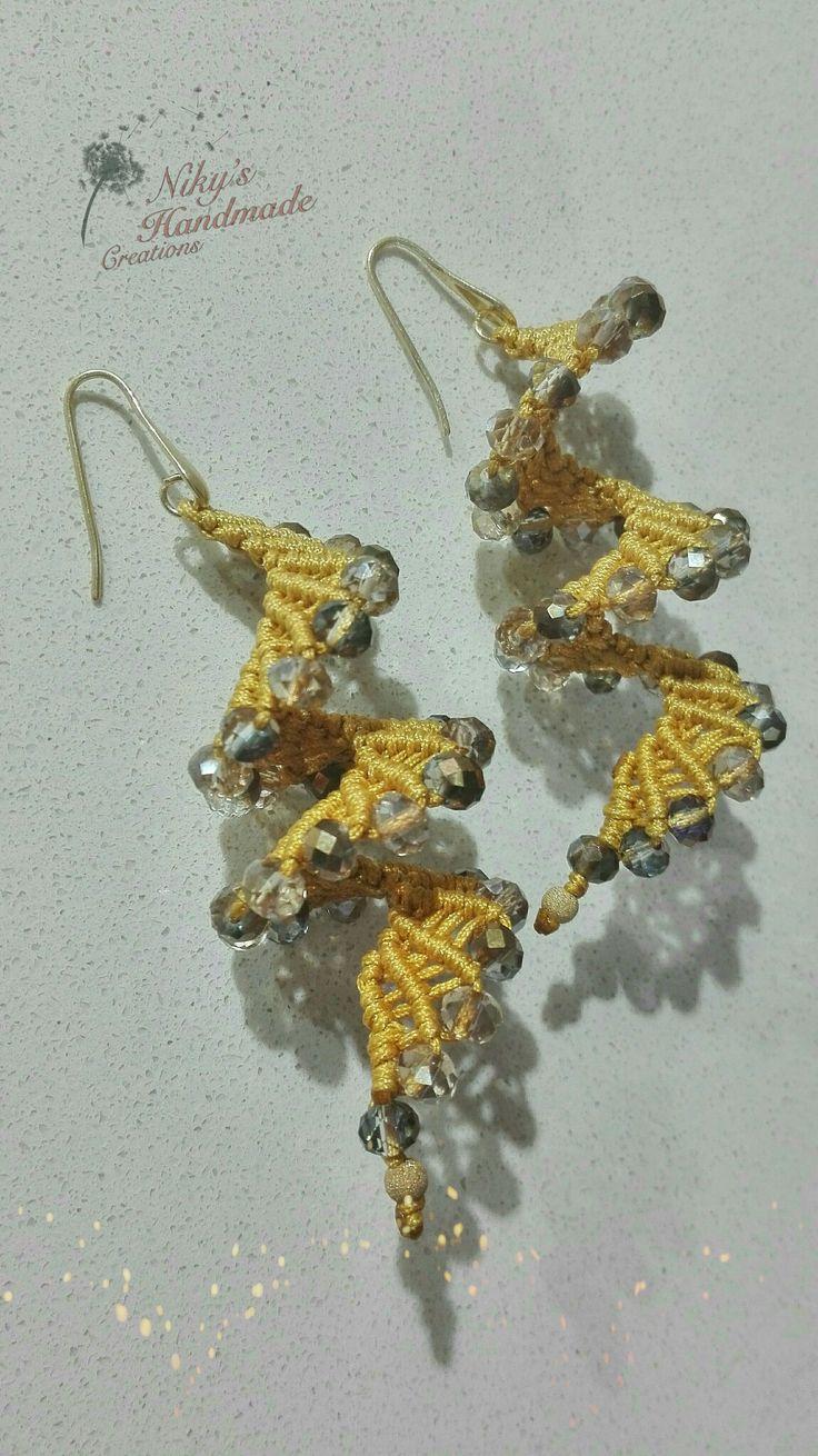 """Makrame earrings """"Nicky's handmade creations"""""""