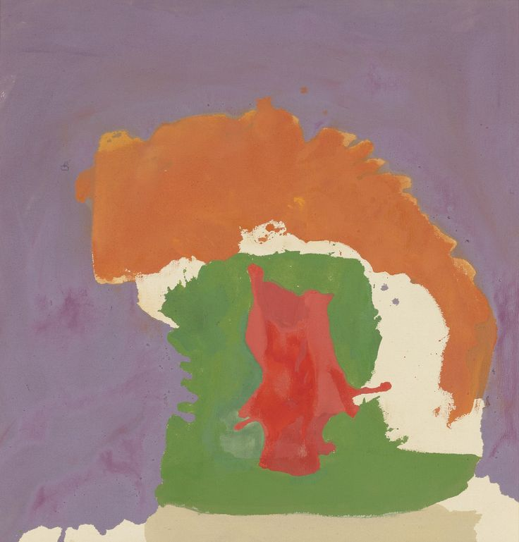 Helen Frankenthaler 1928 - 2011 CLOISTER signed, titled and dated 1964 on the reverse, acrylic on canvas 31 1/8 by 30 1/8 in. | Sotheby's