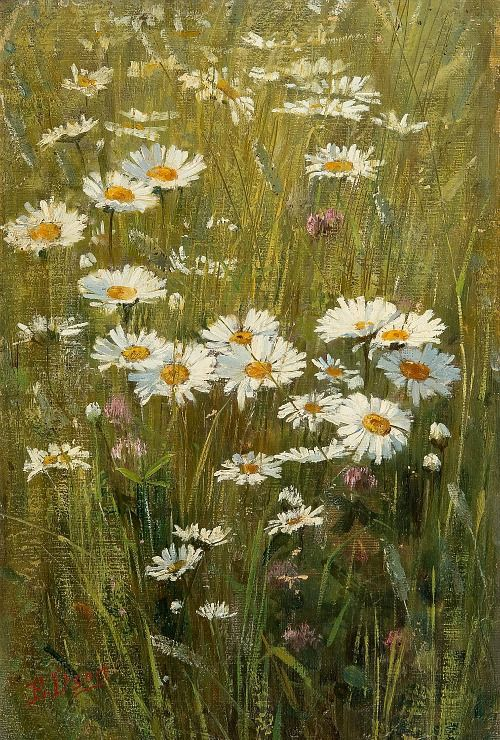 Elin Danielson - Gambogi Meadow Flowers 19th century