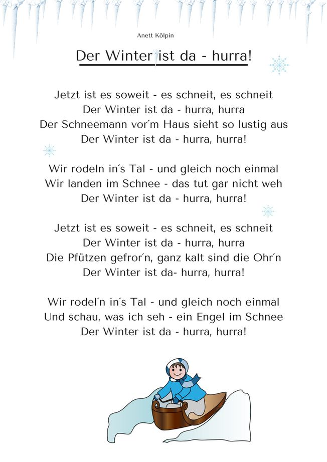 Winter - Kita-Kiste, Lieder für Kita und Grundschule