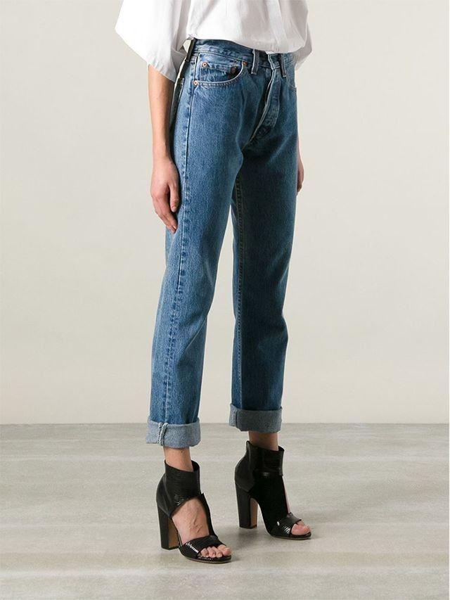 0363b791 Vintage Levi 501 high waist Straight leg mom jean Women Size W32 L32 ladie  uk 14