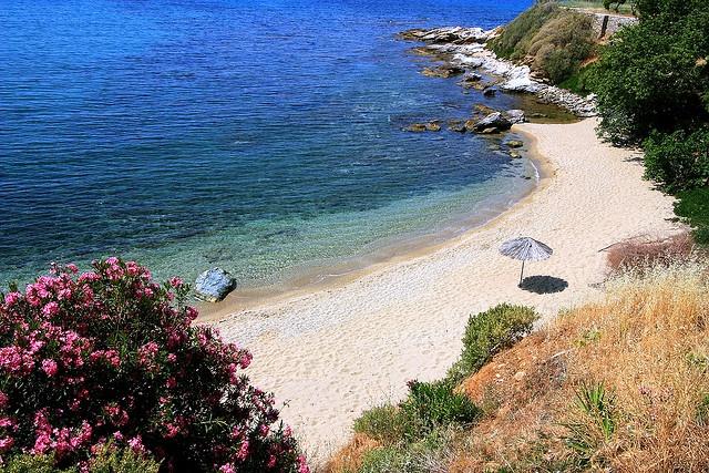 One of the beaches on Karystos, Greece.