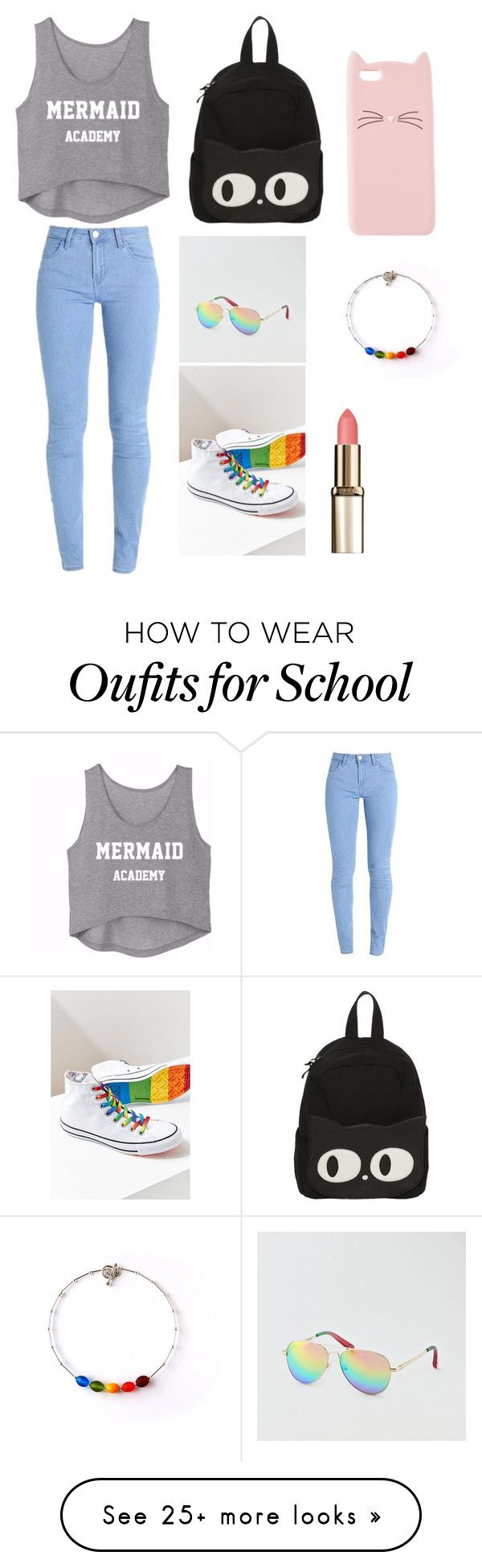 """My First Polyvore Outfit"" by noga-app on Polyvore featuring Converse, American Eagle Outfitters and Charlotte Russe"