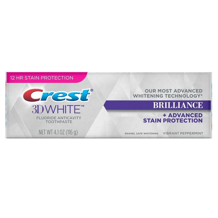 Crest 3D White Brilliance Whitening Toothpaste – Vibrant Peppermint – 4.1oz