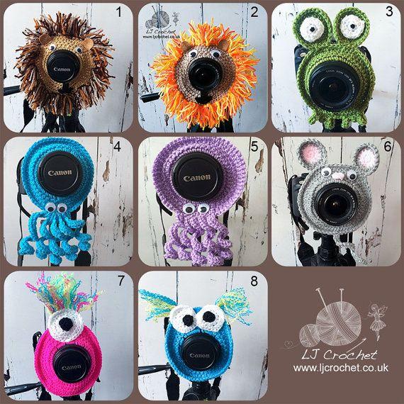 Kamera-Objektiv-Buddy, Kamerazubehör, Objektiv Buddy, häkeln, Glas Critter, Fotograf Helper, Familie Fotografie, UK-Verkäufer