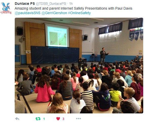 PAUL DAVIS SOCIAL MEDIA INTERNET SAFETY TORONTO TDSB #SOCIALMEDIA #ONLINESAFETY
