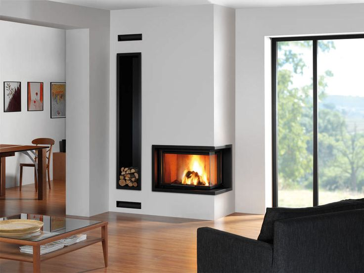 Wood-burning closed hearth / for fireplaces / corner - G 30 LD - ROCAL