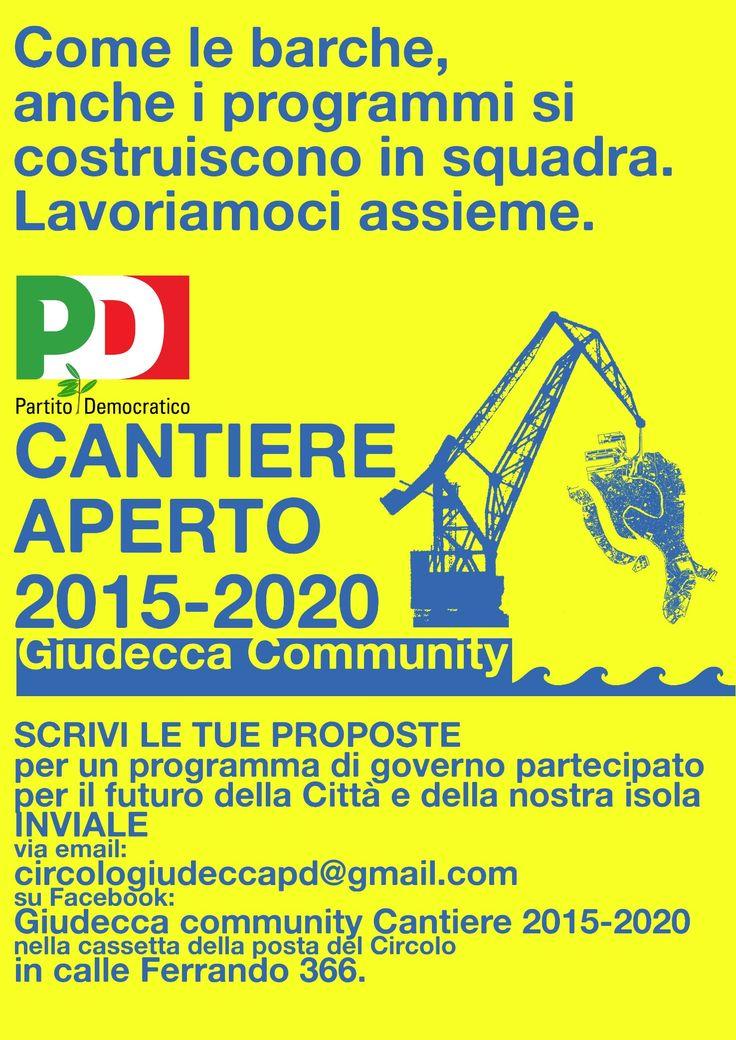 Partito Democratico (Democratic Party) local campaign flyer, Venice, 2014