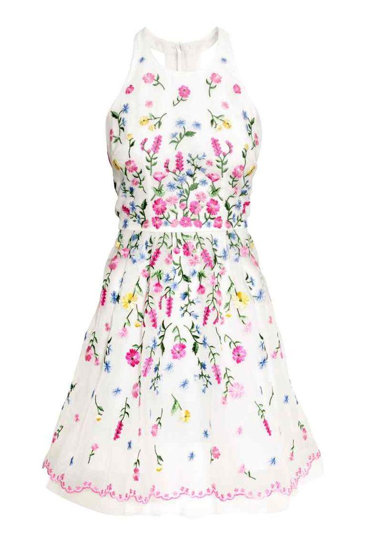 Vestido en organza con bordado | H&M