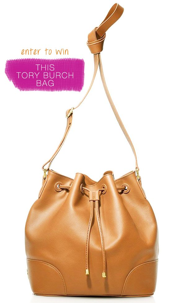 Win a Tory Burch bucket bag, valued at $495 #giveaway  ends 30dec13 at 11.59pm