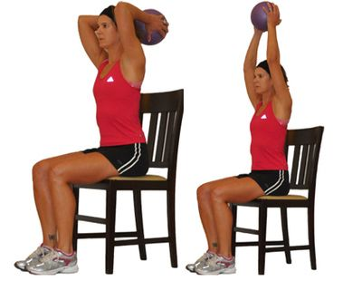 Medicine Ball Exercises: Triceps Extension with a Medicine Ball