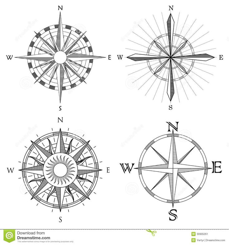 Set Illustration Of Artistic Compass. - Download From Over 57 Million High Quality Stock Photos, Images, Vectors. Sign up for FREE today. Image: 30905261
