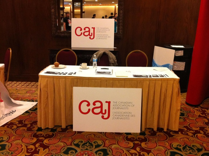 #CAJ table at #CUP Canadian University Press #NASH75 conference, Jan. 9-13, 2013 in Toronto.