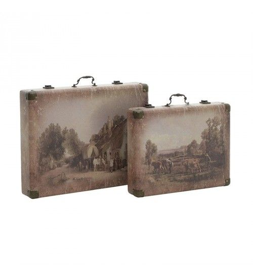 S_2 WALL DECORATION 'SUITCASE' 48X7X36