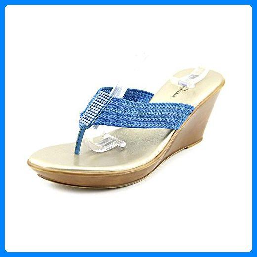 White Mountain Frauen Ray Split toe leger Sandalen mit Keilabsatz Blau Groesse 9.5 US /41 EU - Sandalen für frauen (*Partner-Link)