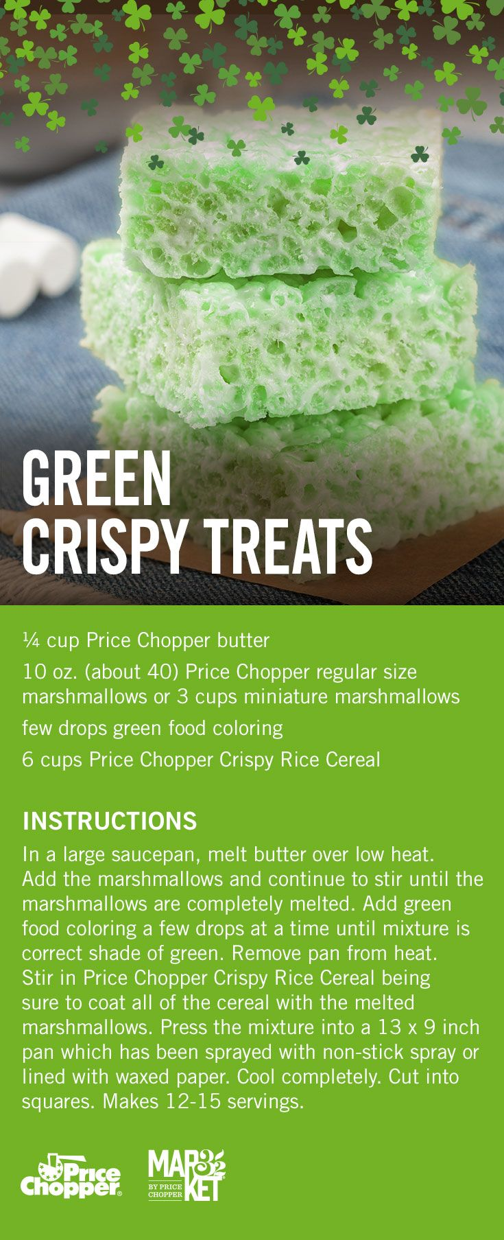 Your Favorite Crispy Treats With A New Color Crispy Treats Food Green Food Coloring