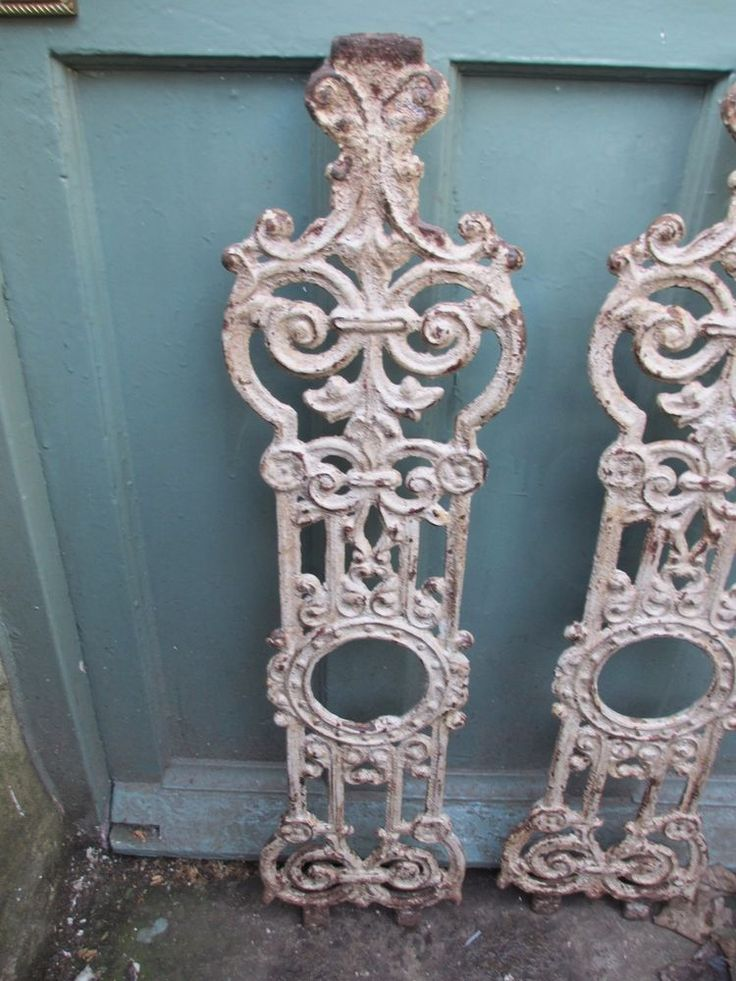 Details About Antique Cast Iron Balcony Stair Spindles