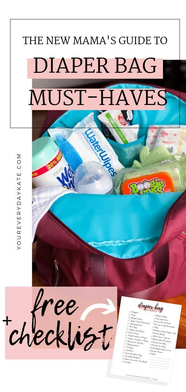 New Mom Diaper Bag Must Have List Snacks Diapers Wipes Hand